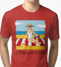 Citalopram Girl - Colour Tri-blend T-Shirt