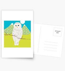 Blanche, la chouette Cartes postales