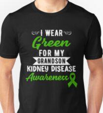 Kidney Disease Awareness For My Grandson Unisex T-Shirt