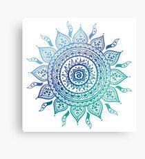 Blue Gradient Mandala  Metal Print