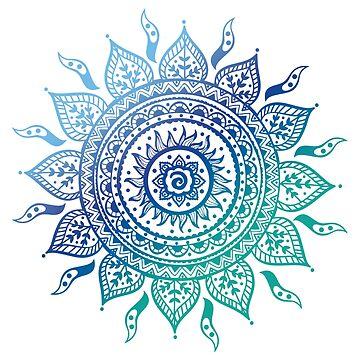 Blue Gradient Mandala de adjsr