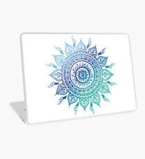 Blue Gradient Mandala  Laptop Skin