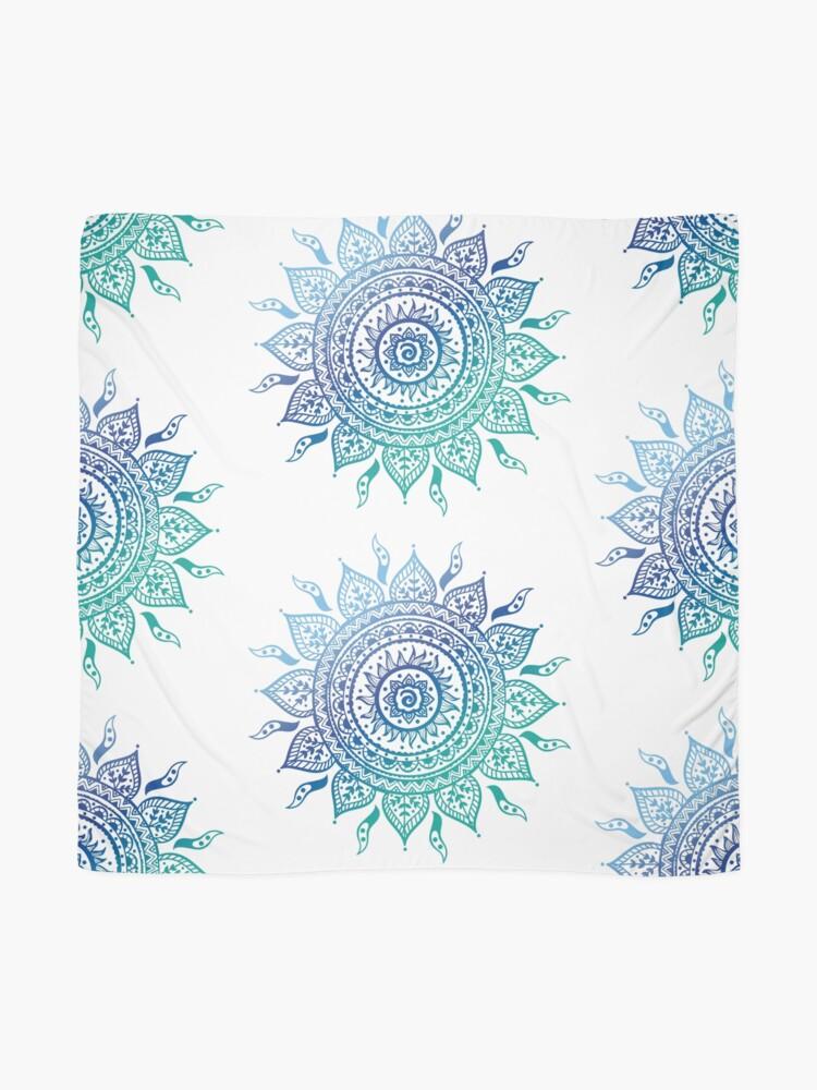 Alternative Ansicht von Blaue Farbverlaufsmandala Tuch