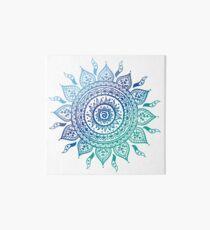 Blue Gradient Mandala  Art Board