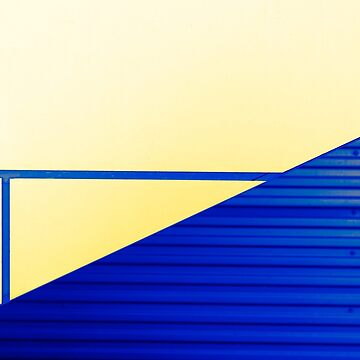 Minimal Abstract Yellow & Blue by JPPhotographix
