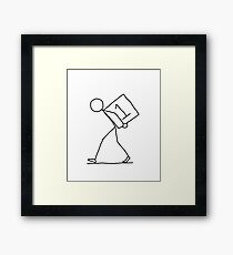 Back To Square One Framed Print