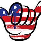 Shaka American Flag Hang Loose Hippy Hippie Surf America Merica Murica by MyHandmadeSigns