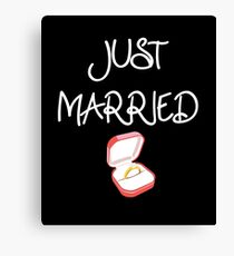 Just Married Wedding Gift  Canvas Print