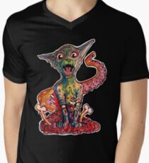 Aron the tentacle collecting zombie cat Men's V-Neck T-Shirt