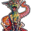 Aron the tentacle collecting zombie cat by byronrempel