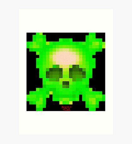 Emojii skullii-pix • 14 Art Print