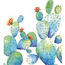 Blue Cactus by IsabelSalvador