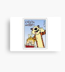 Calvin and Hobbes - stamp Canvas Print