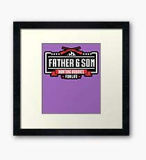 Mens Father Son Hunting Buddies For Life Hunt Gift for Dad Son Framed Print