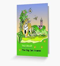 The Big Cat Roams Greeting Card