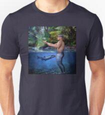 Naked Fisherman (Fish Bait Joke) Unisex T-Shirt