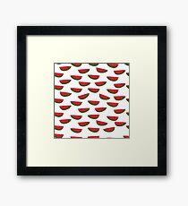 Whimsical watermelon pattern Framed Print
