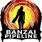 Banzai Pipeline Surfing North Shore Surf Oahu Hawaii Surfboard by MyHandmadeSigns