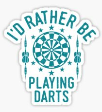 Time Is Precious Darts T-Shirt - Cool Funny Nerdy Darts Player Dartclub Champion Team Humor Statement Graphic Image Quote Tee Shirt Gift Sticker