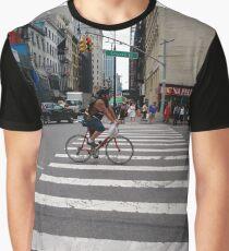 Zebra crossing, New York City, Manhattan, Brooklyn, New York, streets, buildings, pedestrians, #NewYorkCity, #Manhattan, #Brooklyn, #NewYork, #streets, #buildings, #skyscrapers, #cars, #pedestrians Graphic T-Shirt