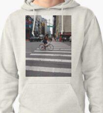 Zebra crossing, New York City, Manhattan, Brooklyn, New York, streets, buildings, pedestrians, #NewYorkCity, #Manhattan, #Brooklyn, #NewYork, #streets, #buildings, #skyscrapers, #cars, #pedestrians Pullover Hoodie