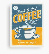 Vintage poster- Coffee Canvas Print