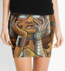 African American Spiral Mini Skirt