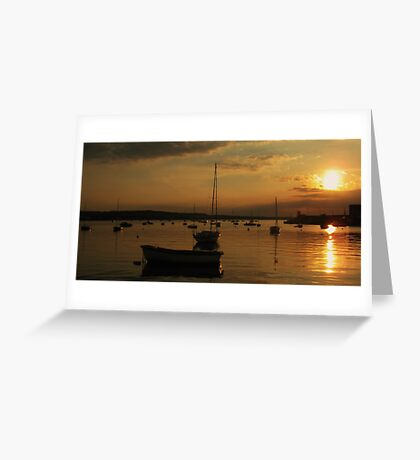 Skerries Harbour Sunset  Greeting Card