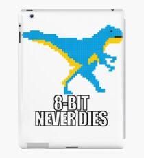 8-bit dinosaur with saying iPad Case/Skin