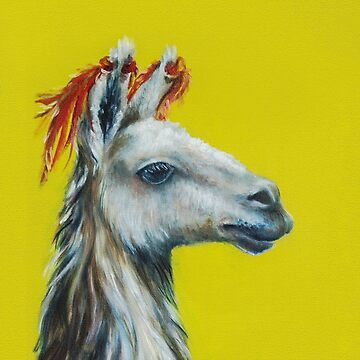 oil painting, lime on yellow background by Eevlada