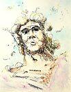 """Zeus - watercolor - 8"""" x 10"""" by Dave Martsolf"""