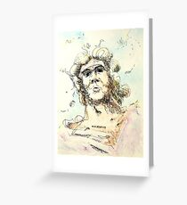 "Zeus - watercolor - 8"" x 10"" Greeting Card"