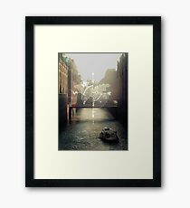 follow the compass Framed Print