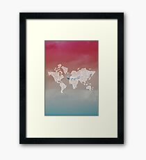 plane to destination  Framed Print