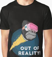 VR Monkey ape Virtual reality rocket gorilla new tshirt gift Graphic T-Shirt