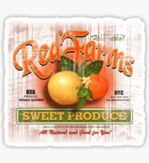 red farms Sticker