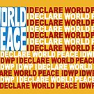 IDWP - I Declare World Peace - Flag by IDWP