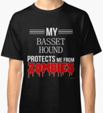 Zombie Basset Hound - Gift For Basset Hound Owner  Classic T-Shirt