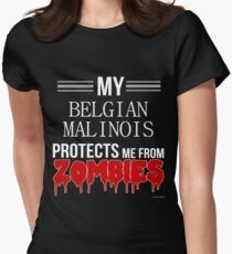 Zombie Belgian Malinois - Gift For Belgian Malinois Owner  Women's Fitted T-Shirt