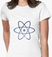 Galaxy Science Atom Symbol Version 2 Women's Fitted T-Shirt