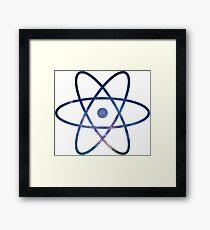 Galaxy Science Atom Symbol Version 2 Framed Print