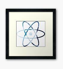 Ocean Wave Science Atom Symbol Framed Print
