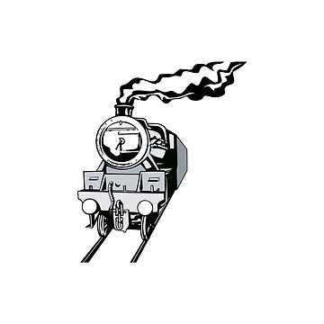 Vintage Railway Locomotive Retro by retrovectors