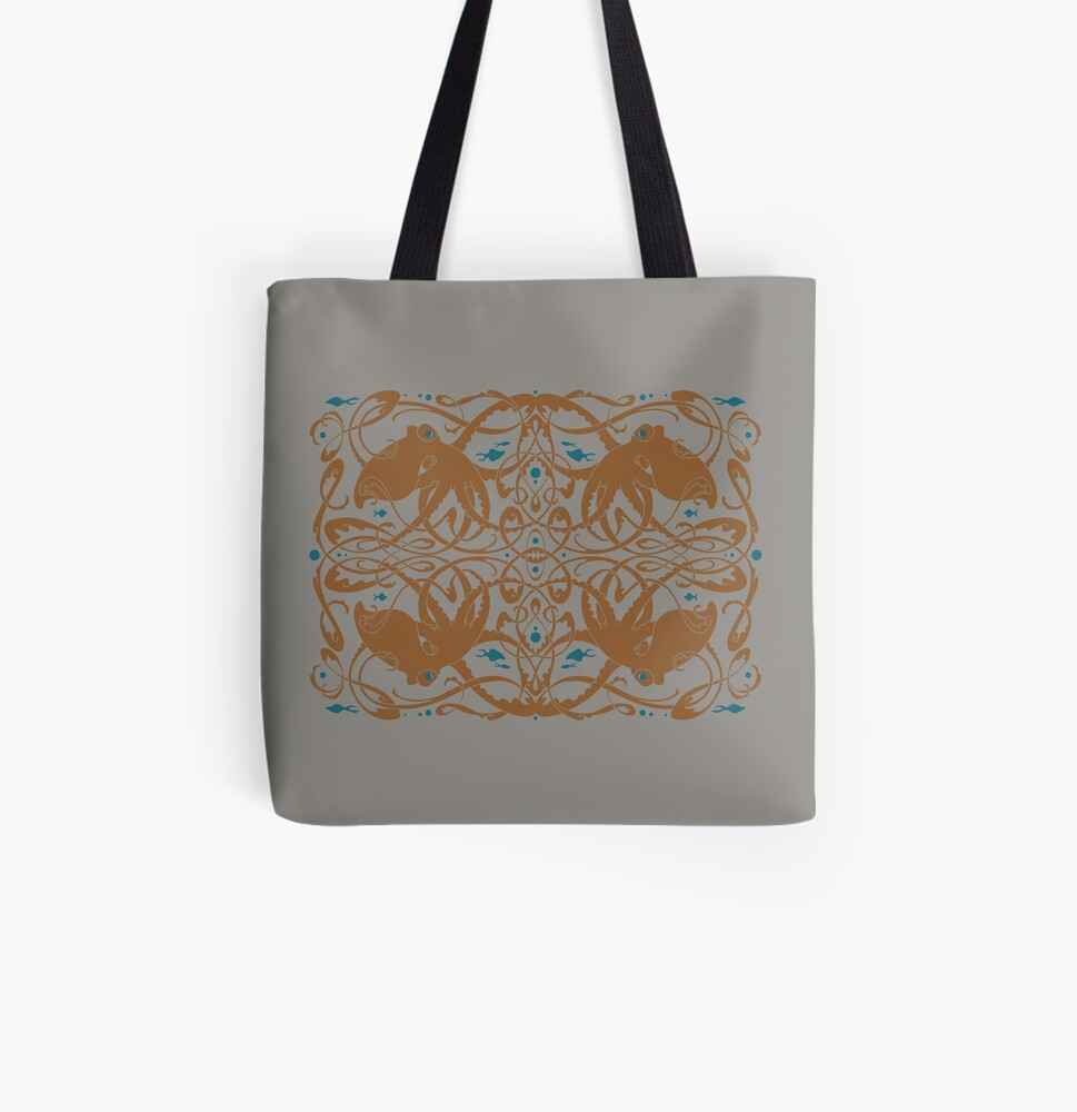 Octopus Knot All Over Print Tote Bag