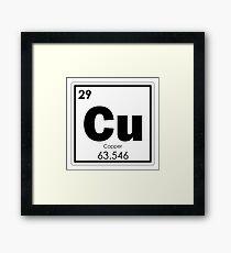 Copper chemical element Framed Print
