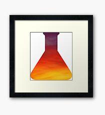 Evening Skies Science Beaker Framed Print