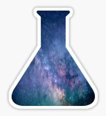Galaxy Science Flask Beaker Sticker