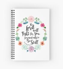 Exodus 14:14 Spiral Notebook