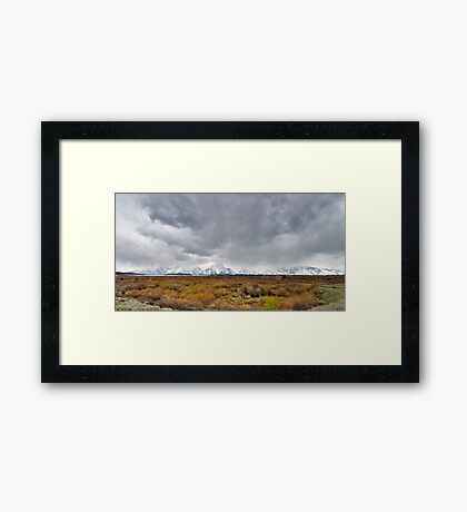 Stormy Day - Willow Flats Overlook - Teton National Park - Panorama Framed Print