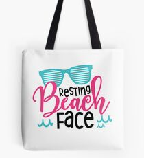 Resting Beach Face Summer Vacation Quote Tote Bag